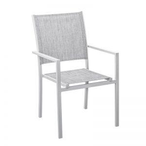 Stapelstol NORMAN vit/grå