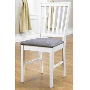 Stol SANDHAMN vit/grå