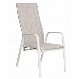 Positionsstol GREVE med gas vit/grå