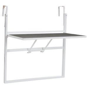 Balkongbord LEONE vit/grå