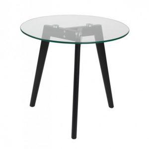 Soffbord SIRI svart/glas