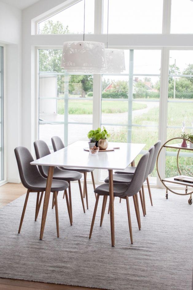 Matgrupp POLAR bord + 6 stolar Tofta Möbel AB